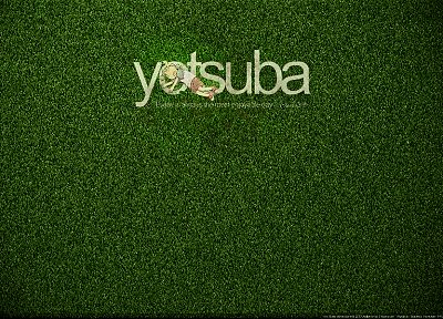 grass, Yotsuba, Yotsubato - random desktop wallpaper