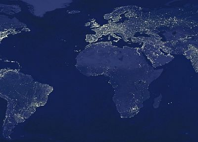 light, night, Earth, globes, maps, world map - desktop wallpaper