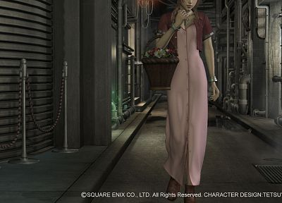 Final Fantasy VII, Aerith Gainsborough, bracelets, baskets - random desktop wallpaper