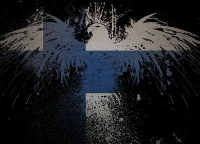 flags, Finland - desktop wallpaper