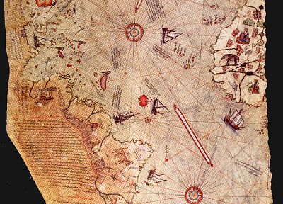 curious, maps, old map, piri resi, Piri Reis - random desktop wallpaper