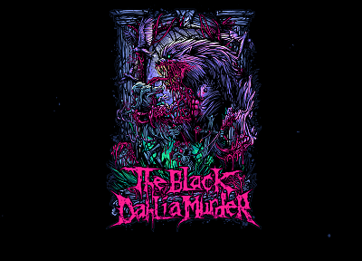 music, The Black Dahlia Murder, digital art, band - related desktop wallpaper