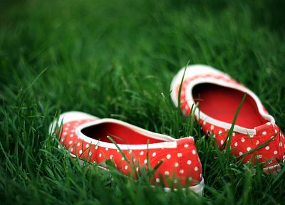 grass, shoes - random desktop wallpaper