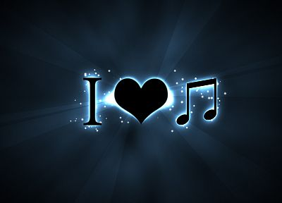 love, music, logos - desktop wallpaper