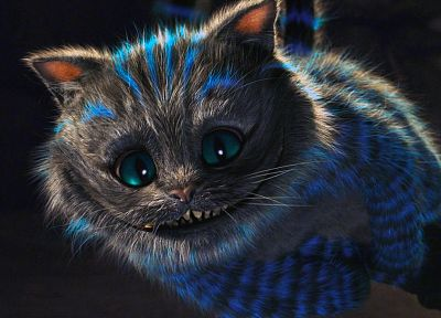 Alice in Wonderland, Tim Burton, Cheshire Cat - desktop wallpaper