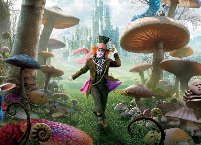 fantasy, Alice in Wonderland, Mad Hatter, Johnny Depp - random desktop wallpaper