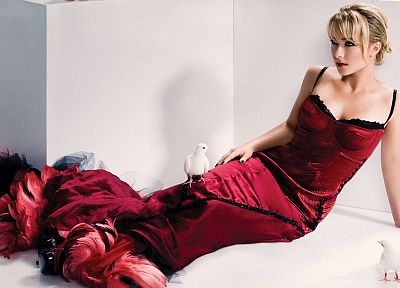 blondes, women, actress, Hayden Panettiere, models, celebrity, red dress - related desktop wallpaper