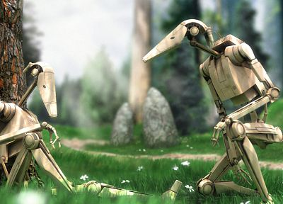 Star Wars, Droid, battles, b1 battle droids - related desktop wallpaper