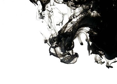 abstract, black, smoke, monochrome - random desktop wallpaper