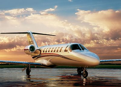 aircraft, vehicles, learjet - desktop wallpaper