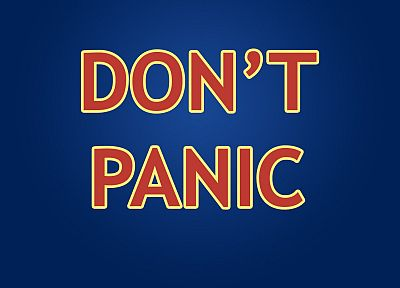 The Hitchhikers Guide To The Galaxy, Don't Panic - desktop wallpaper