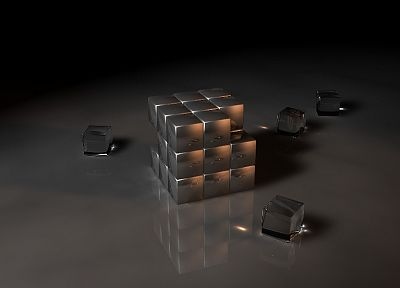 3D view, cubes - random desktop wallpaper