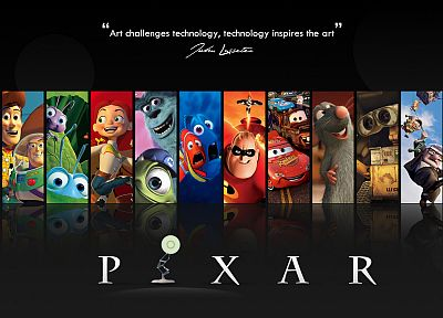 Pixar, movies, Wall-E, cars, tribal, quotes, Up (movie), Finding Nemo, Monsters Inc., Ratatouille, Toy Story, The Incredibles, A Bug's Life - desktop wallpaper