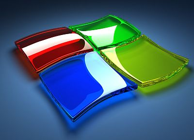 glass, Microsoft Windows, logos, glass art - random desktop wallpaper