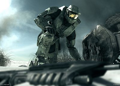 guns, Halo, Master Chief - random desktop wallpaper