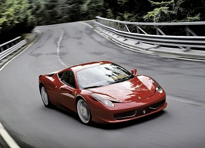 red, cars, front, supercars, Ferrari 458 Italia - random desktop wallpaper