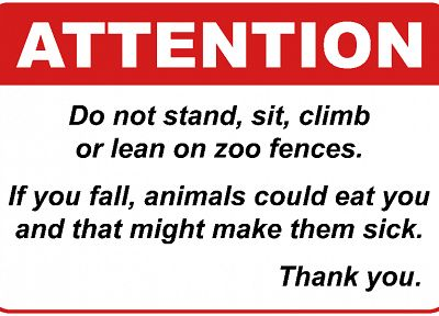 fences, animals, funny, sick, warning - desktop wallpaper