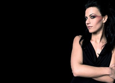 brunettes, women, Gothic, Cristina Scabbia, black background - related desktop wallpaper