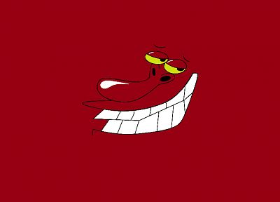 cartoons, red, Cow and Chicken - desktop wallpaper