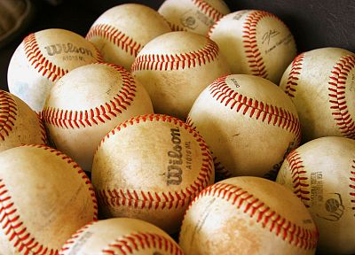 balls, baseball, Wilson - random desktop wallpaper