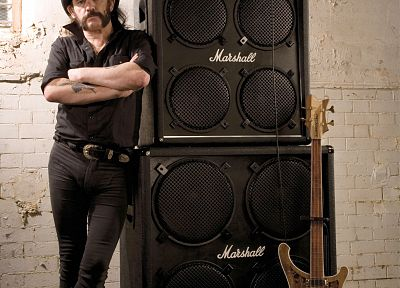 guitars, marshall, Lemmy - random desktop wallpaper