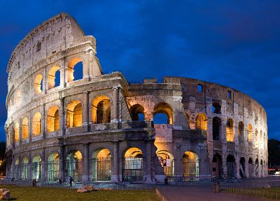 architecture, Rome, Italy, Colosseum - random desktop wallpaper