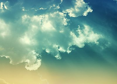blue, clouds, nature, skyscapes - desktop wallpaper
