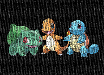 Pokemon, Bulbasaur, Squirtle, mosaic, Charmander - random desktop wallpaper