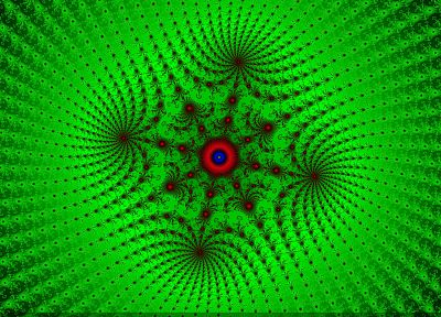 green, abstract, fractals, psychedelic - related desktop wallpaper