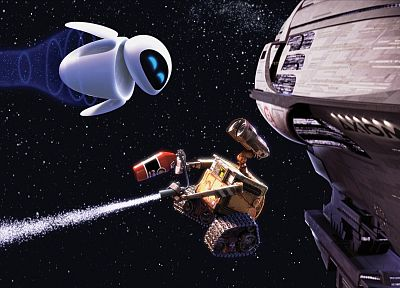 outer space, stars, Wall-E, axiom - random desktop wallpaper