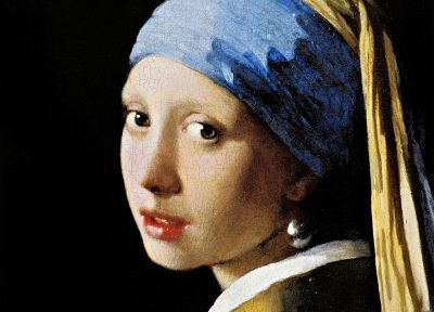 paintings, artwork, Johannes Vermeer, The Girl with a Pearl Earring - desktop wallpaper