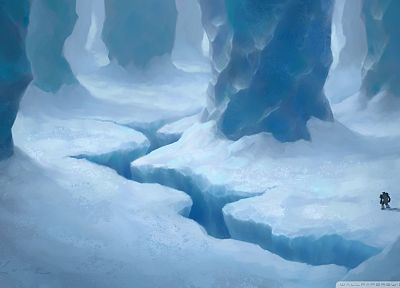 fantasy art, TagNotAllowedTooSubjective, ice cave - desktop wallpaper