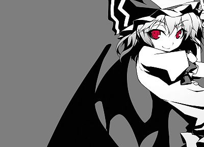 Touhou, vampires, Remilia Scarlet, simple background, Shingo (Missing Link) - desktop wallpaper