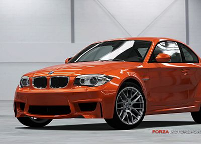 video games, cars, Xbox 360, BMW 1 series M Coupe, Forza Motorsport 4 - related desktop wallpaper