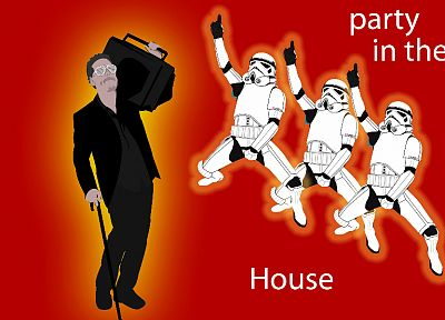 stormtroopers, Gregory House, Boombox, simple background, House M.D. - desktop wallpaper