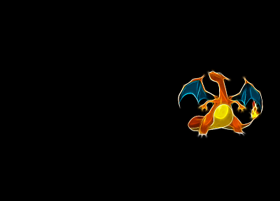 Pokemon, Charizard, simple background, black background - related desktop wallpaper