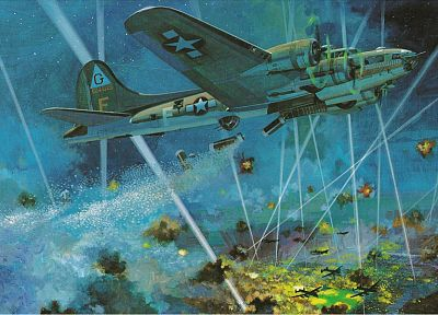 aircraft, World War II, artwork - desktop wallpaper