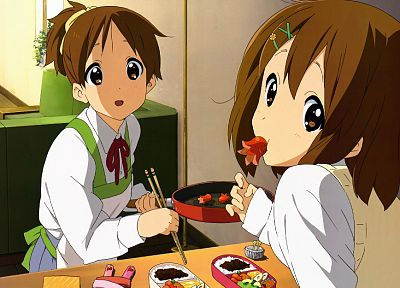 K-ON!, Hirasawa Yui, anime girls, Hirasawa Ui - desktop wallpaper