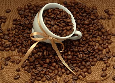coffee, coffee beans, 3D - random desktop wallpaper