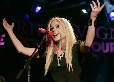 blondes, women, Avril Lavigne, singers - related desktop wallpaper