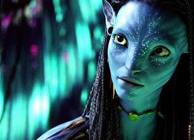 Avatar, Neytiri, Zoe Saldana - desktop wallpaper