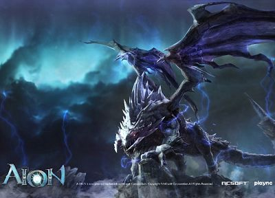 video games, dragons, Aion, artwork - related desktop wallpaper