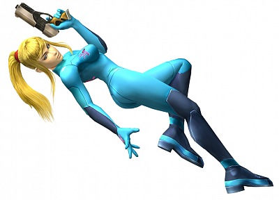 Metroid, 3D view, zero suit, Samus Aran - random desktop wallpaper