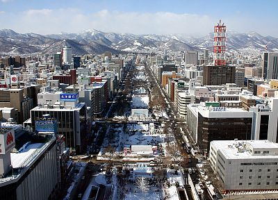 Japan, winter, Sapporo, Snow Festival, cities - related desktop wallpaper