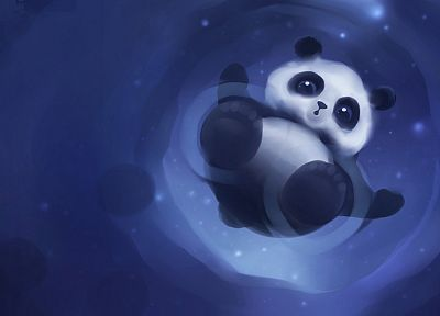 artistic, animals, DeviantART, panda bears, artwork, Apofiss - random desktop wallpaper