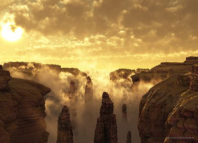 canyon, Eyefinity - random desktop wallpaper