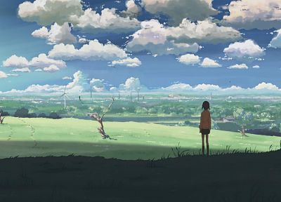 clouds, landscapes, Makoto Shinkai, 5 Centimeters Per Second, anime - related desktop wallpaper