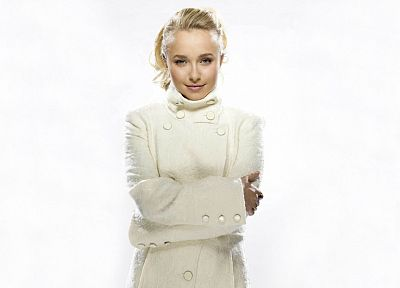 blondes, women, white, actress, Hayden Panettiere, celebrity, white background - desktop wallpaper