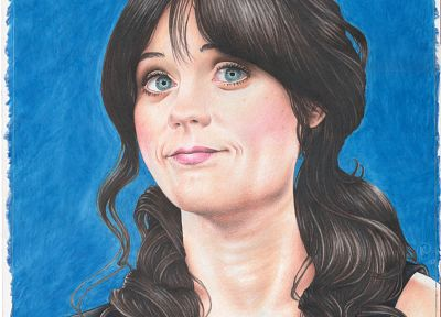 women, Zooey Deschanel, artwork - related desktop wallpaper