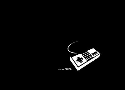 video games, nes game console, controllers - desktop wallpaper